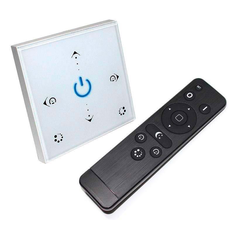 Controlador RGB táctil empotrable + mando a distancia RF